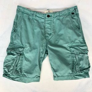 Scotch & Soda Faded Sea Foam Green Cargo Shorts